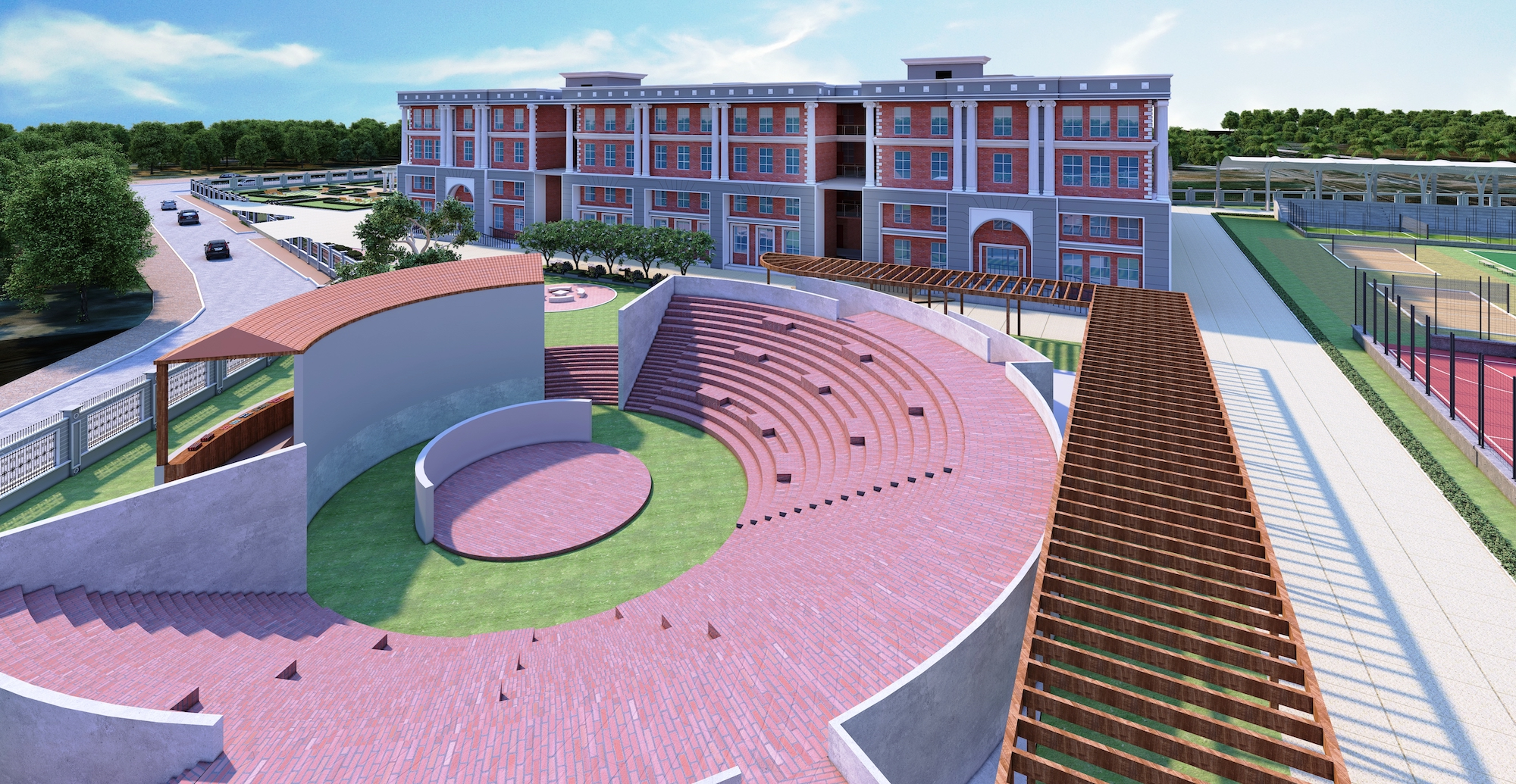 Marigold International School | Amphitheatre with 700 seating capacity