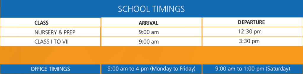 Marigold International School | School Timing